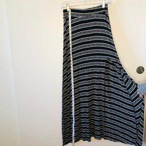 Maxi Skirt Full Length with Side Slit